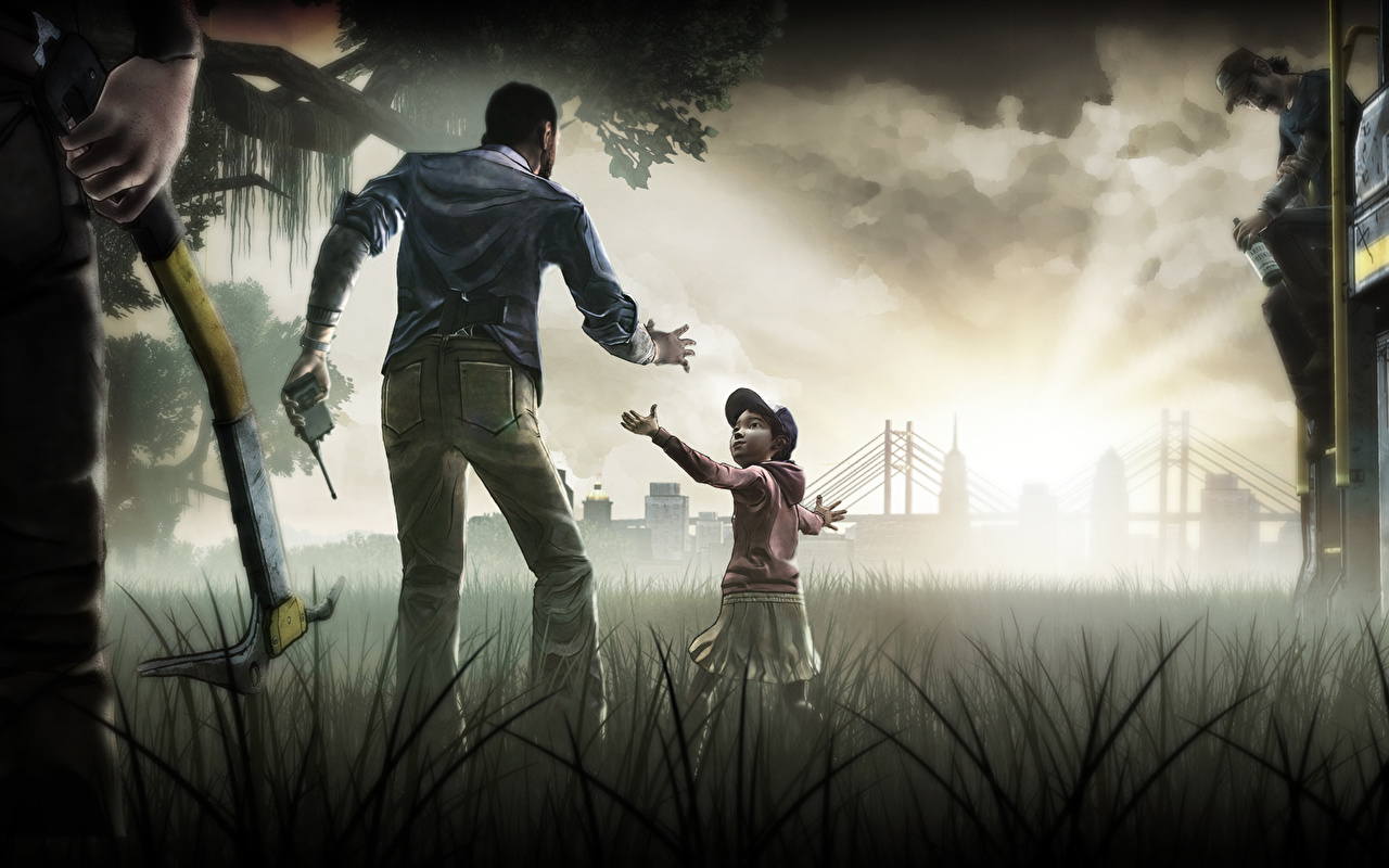 Wallpapers Little girls Walking dead the game Children vdeo game