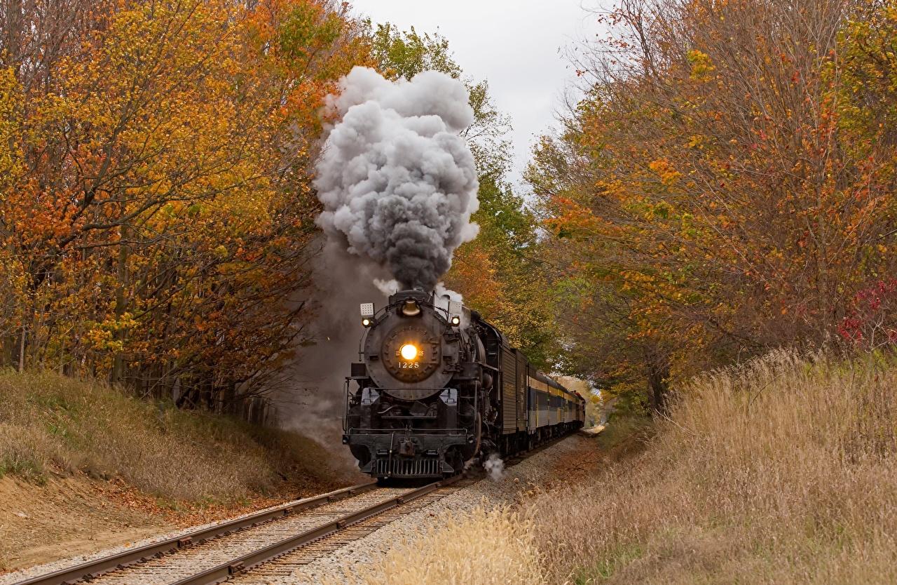 zdjęcie Pociąg Dym pociągi