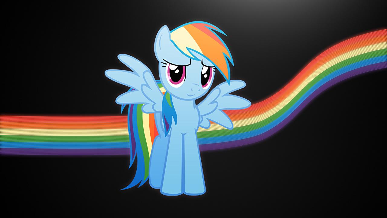 Foto's My Little Pony: Vriendschap is betoverend Cartoons Regenboog Vectorafbeelding
