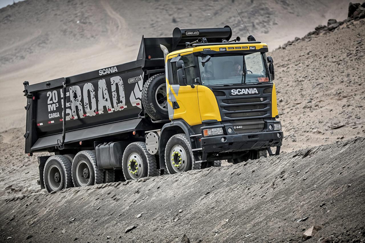 Photo lorry Scania 8x4, G440, 2013 Cars Trucks auto automobile