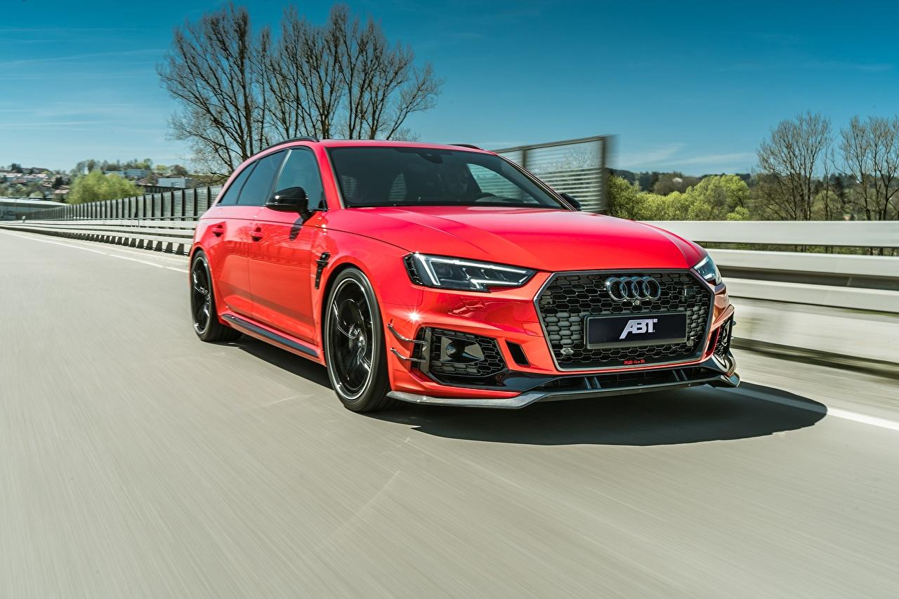 Audi 2018 ABT RS4 RS4-R Movimento Metálico Vermelho carro, automóvel, automóveis, velocidade Carros