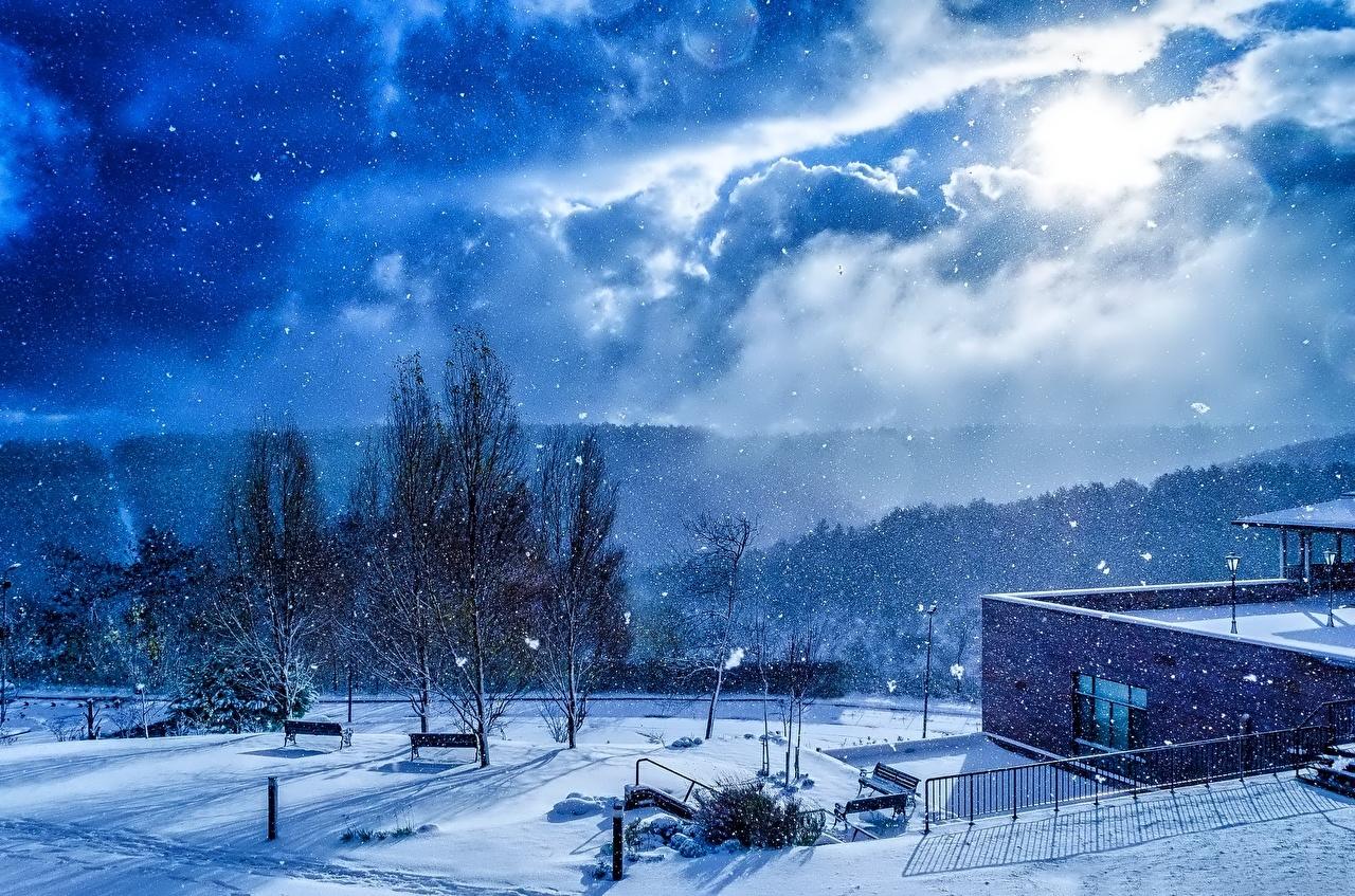 壁紙 冬 空 雪 ストリート 自然 ダウンロード 写真