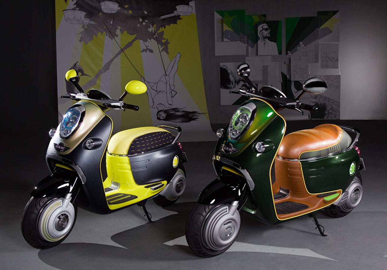 Bilder von Motorroller 2010 MINI Scooter E Concept Zwei Motorrad 2 Motorräder