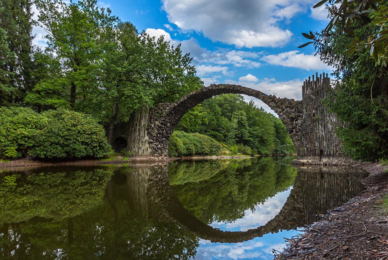 zdjęcia Niemcy Mosty Natura Rzeki most przyroda rzeka