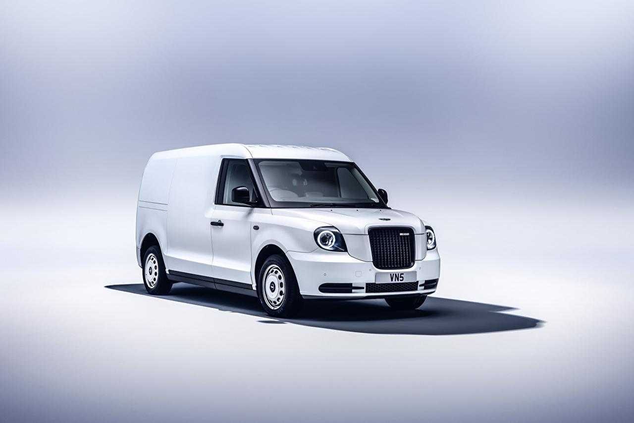 Pictures LEVC VN5, 2020 Van White Cars Metallic auto automobile