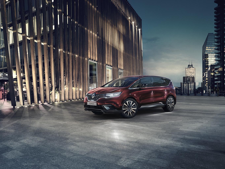 Photo Renault 2019 Espace Minivan Wine color automobile maroon burgundy dark red Cars auto