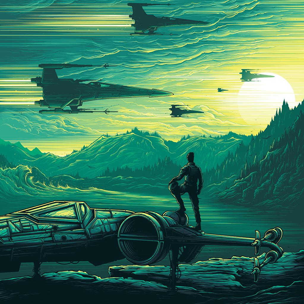 壁紙 スター ウォーズ フォースの覚醒 船 映画 ファンタジー
