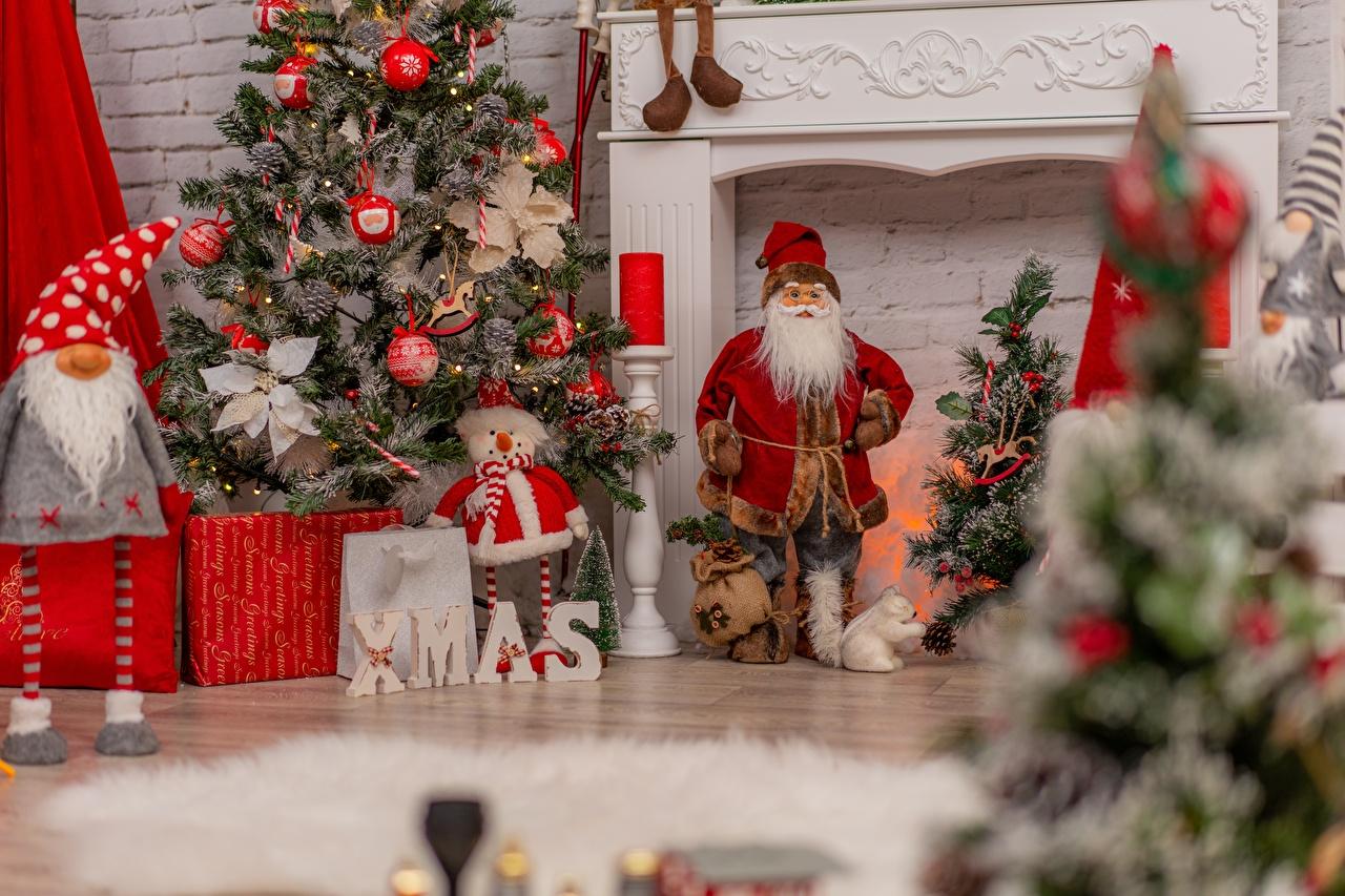 Bilder Neujahr Sport Tannenbaum Weihnachtsmann Christbaum sportliches Weihnachtsbaum