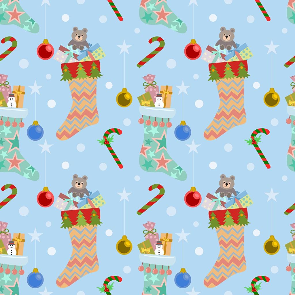 Fotos von Textur Neujahr Socken