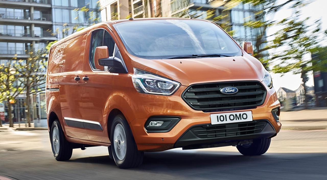 Desktop Hintergrundbilder Ford Transit Custom, 2017 Kleintransporter Orange automobil auto Autos
