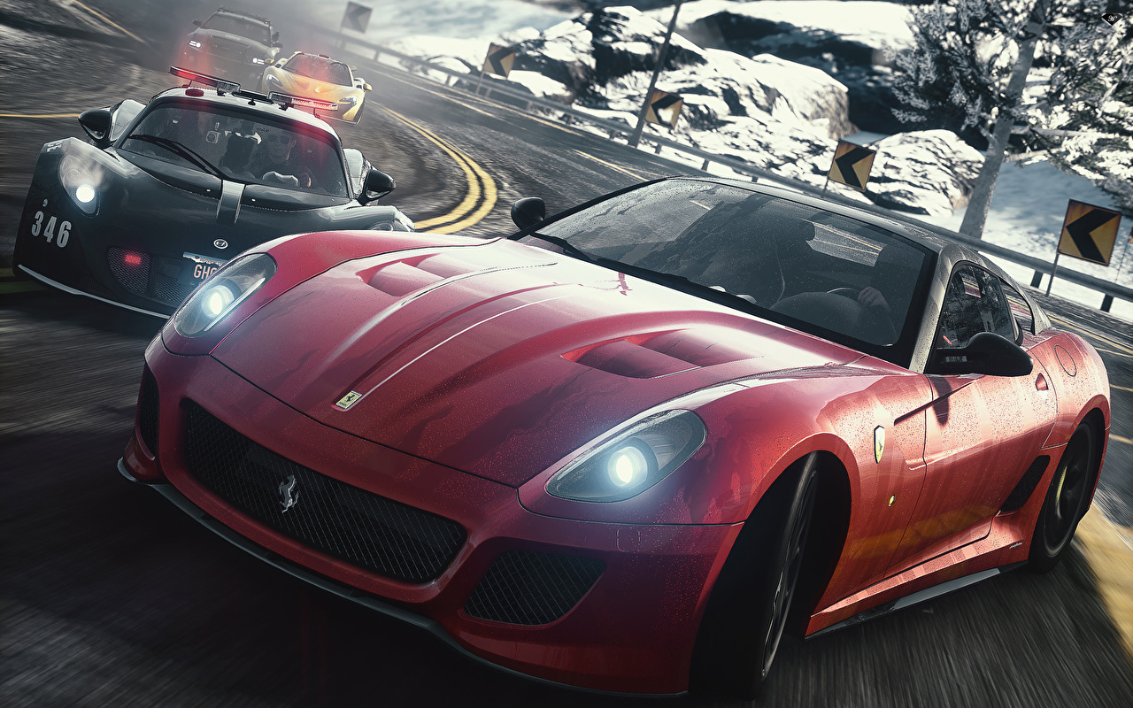 Wallpaper Need for Speed The Rivalry Begins 3D Graphics vdeo game auto Games Cars automobile
