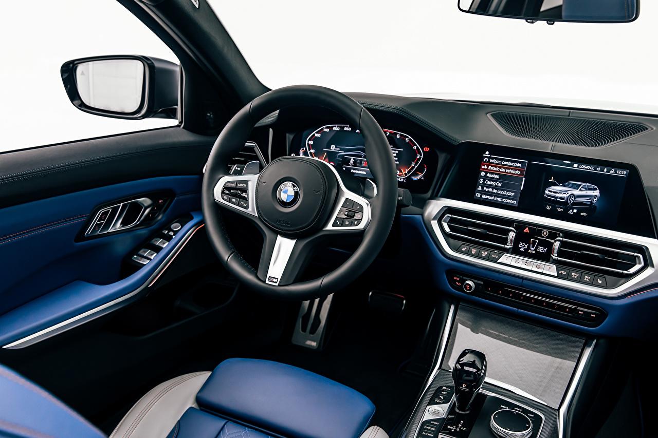 Foto BMW Salons Lenkrad M340i xDrive Touring, Worldwide, G21, 2020 auto Autos automobil