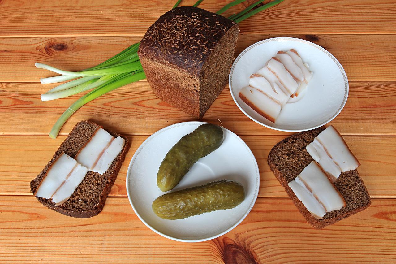 Картинки салом Огурцы Хлеб Еда блюдца Сало Пища Блюдце Продукты питания