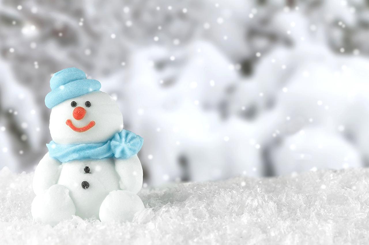 壁紙 冬 雪 雪だるま 雪の結晶 暖かい帽子 自然 ダウンロード 写真