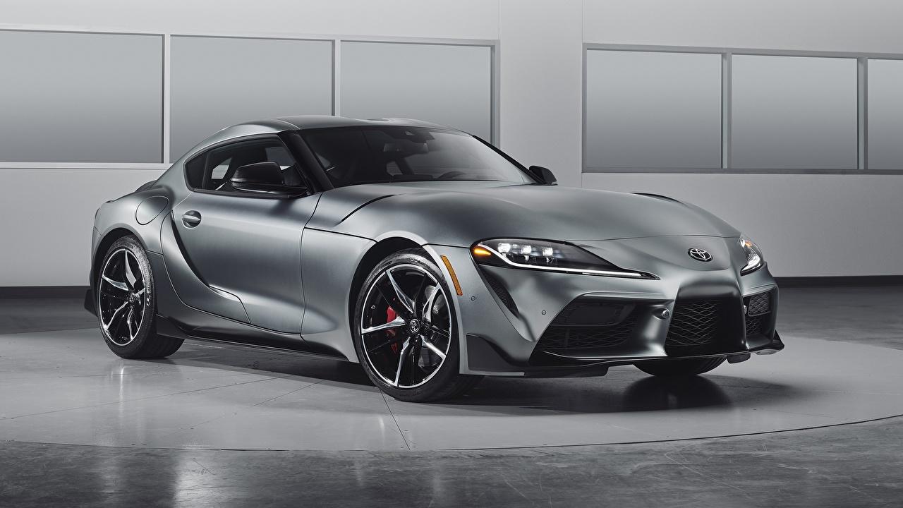 Desktop Wallpapers Toyota Supra GR, 2020 Coupe Grey Cars gray auto automobile