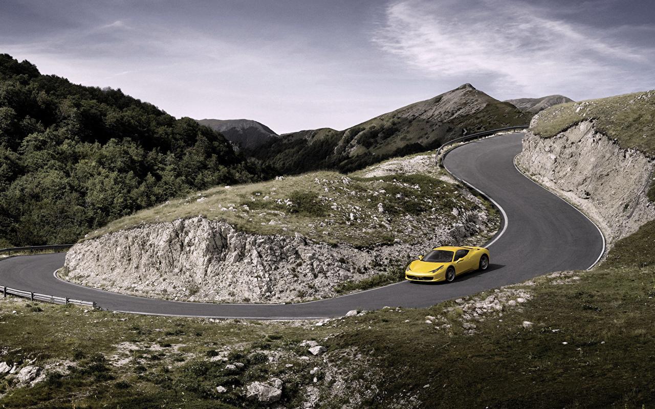 Ferrari Routes 458 Italia voiture, automobile Voitures