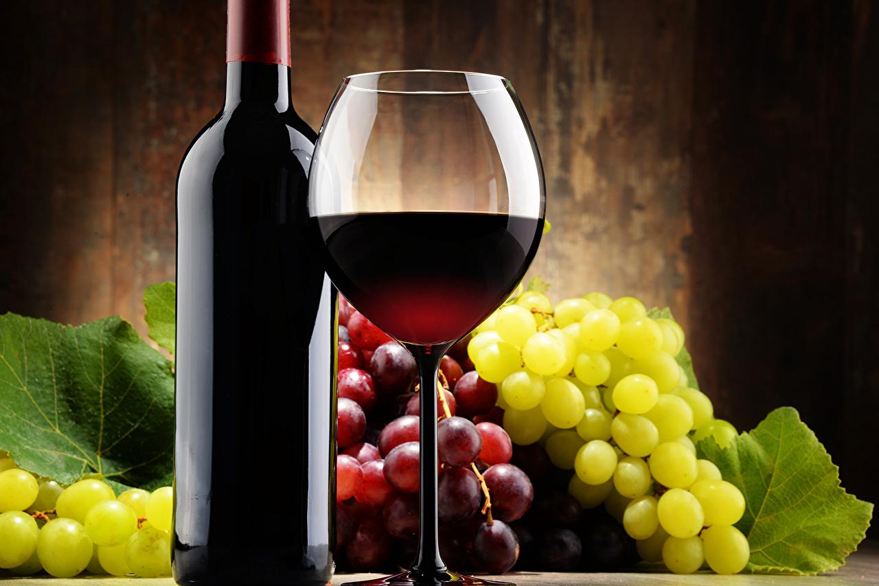 Image Wine Grapes Food Bottle Stemware Drinks bottles
