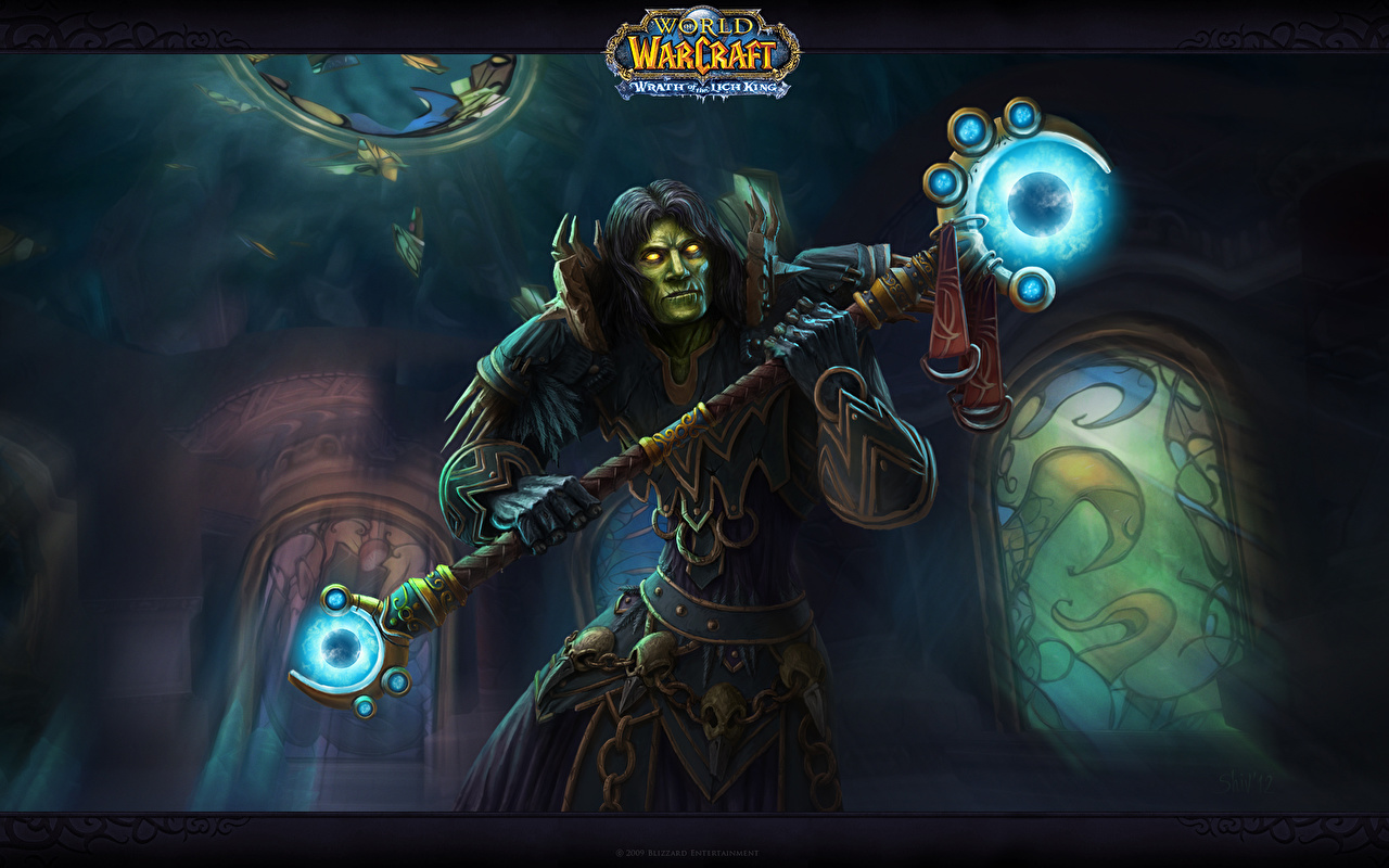 Fondos De Pantalla World Of Warcraft Magia Warlock Bastón
