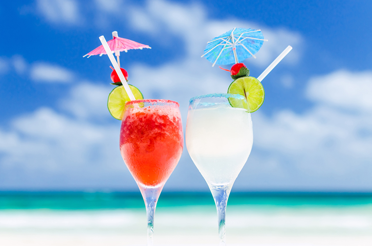 Wallpaper 2 Lime Food parasol Stemware Drinks Two Umbrella drink