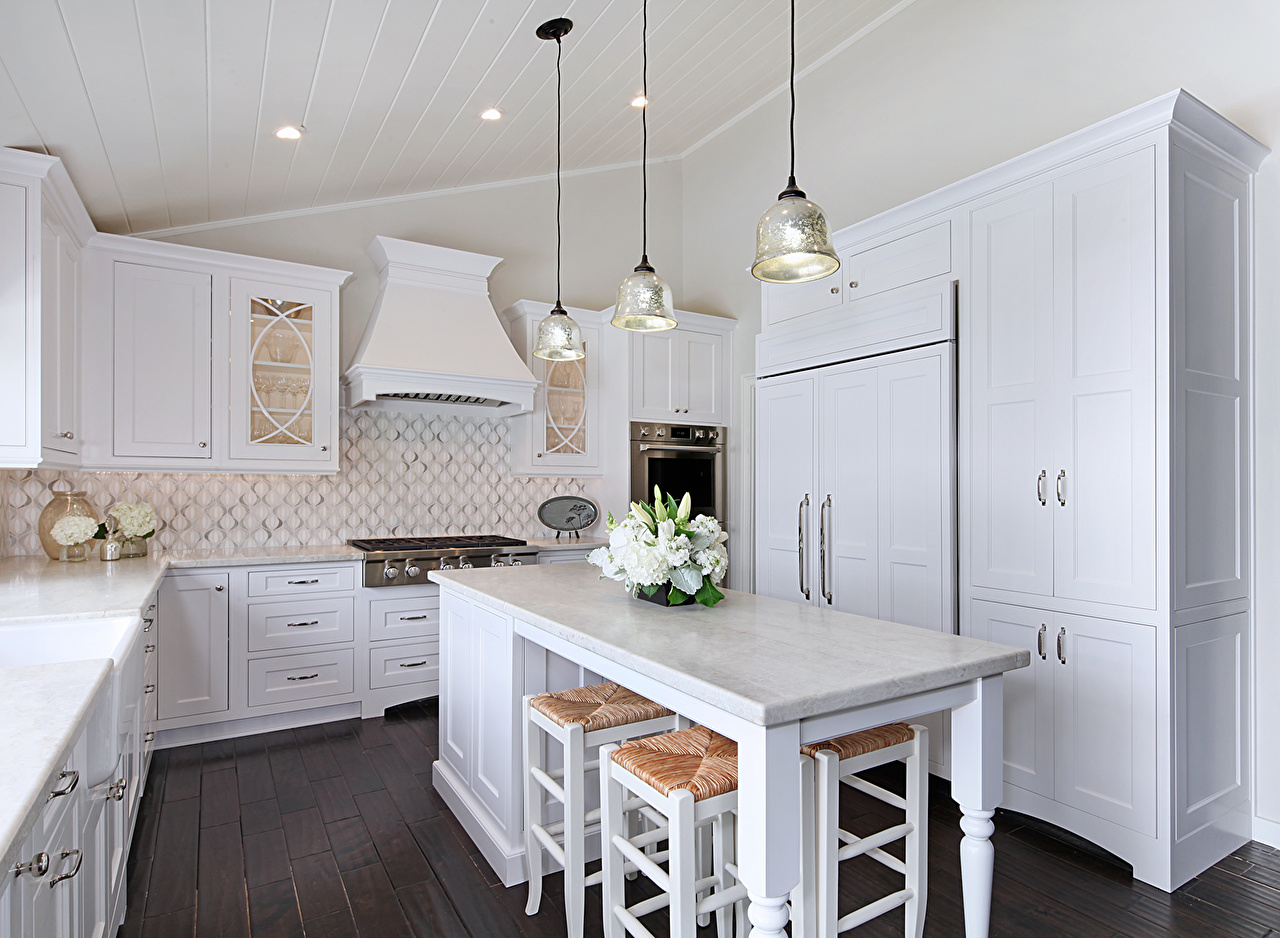 Photo Kitchen Bouquets Interior Lamp Table Design