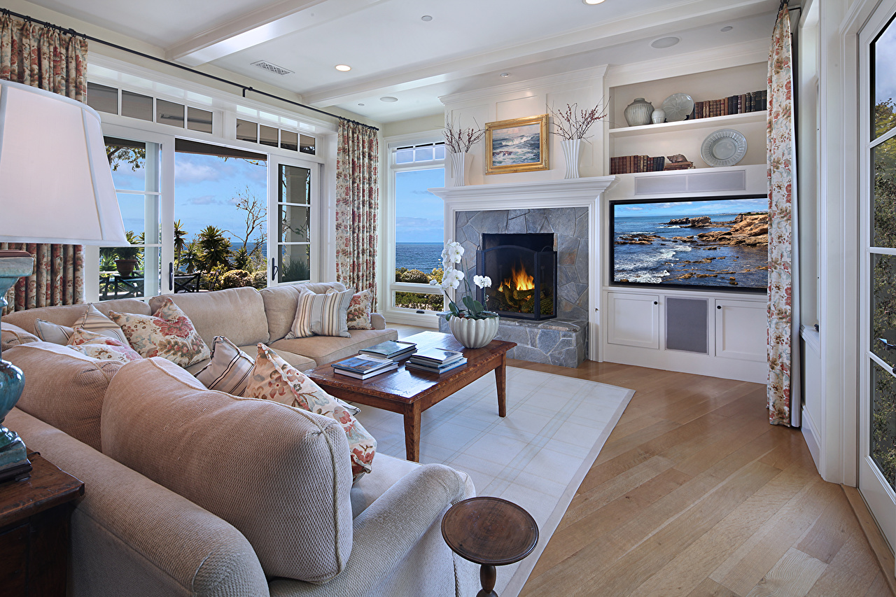 Images Living room Interior Fireplace Sofa Design lounge sitting room Couch