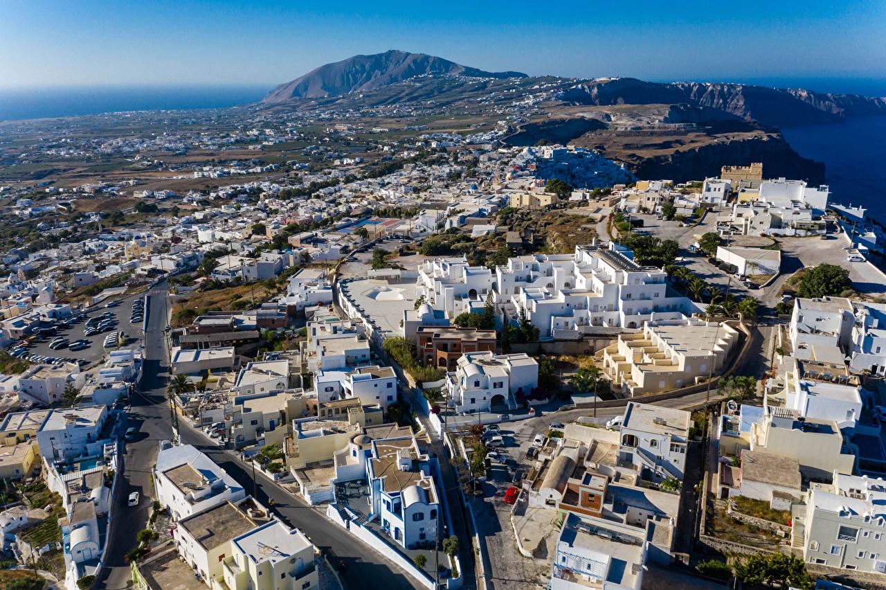 Fotos Griechenland Thira, South Aegean Straße Von oben Haus Städte Stadtstraße Gebäude