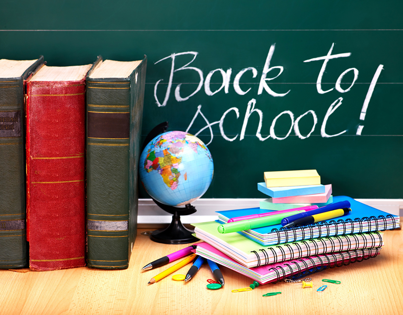 Photos School English Globe Ballpoint pen Notebooks Book books