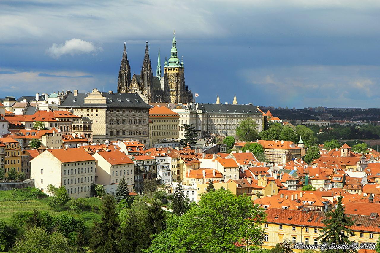 Foto Praag Tsjechië Steden gebouwen gebouw Huizen een stad