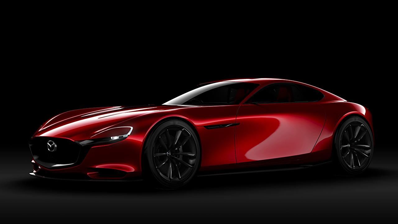壁紙 マツダ Rx Vision Concept 赤 側面図 自動車 ダウンロード 写真