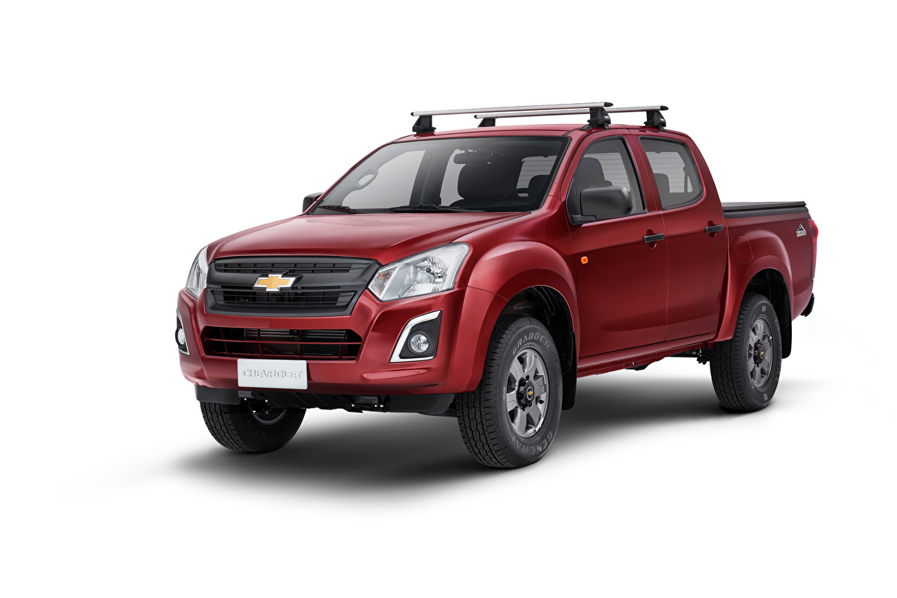 Pictures Chevrolet D-Max Hi-Ride, 2020 Pickup burgundy Cars Metallic White background maroon dark red Wine color auto automobile