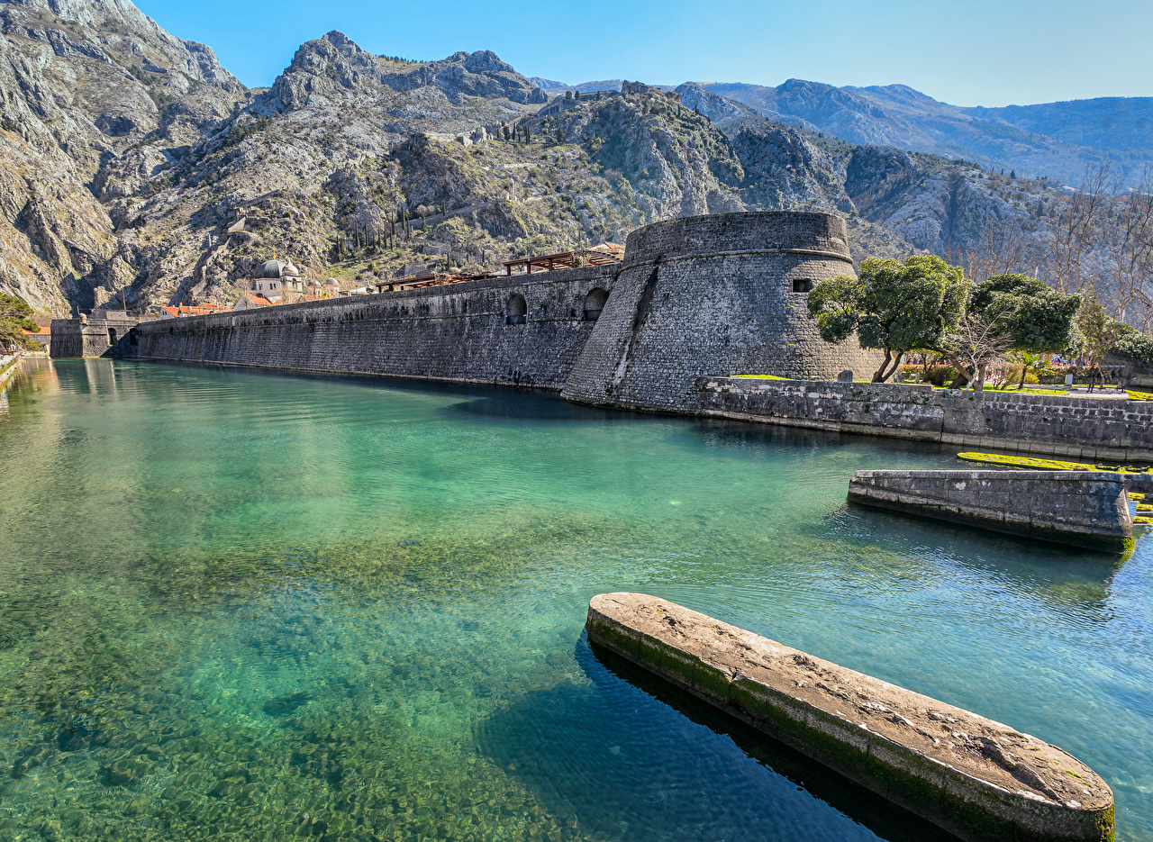 Desktop Hintergrundbilder Montenegro Kotor Fortress Berg Natur Küste Gebirge