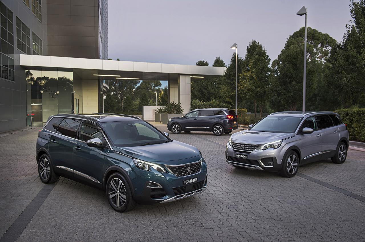 Picture Peugeot 2017-19 5008 auto Three 3 Cars automobile