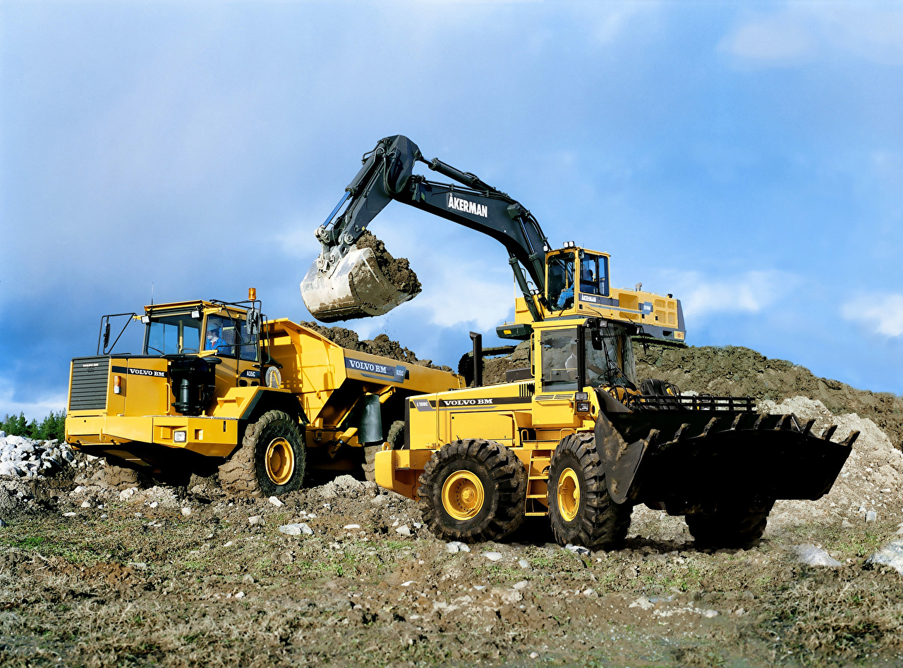 Pictures Trucks Excavator front loader lorry Loader payloader front-end loader