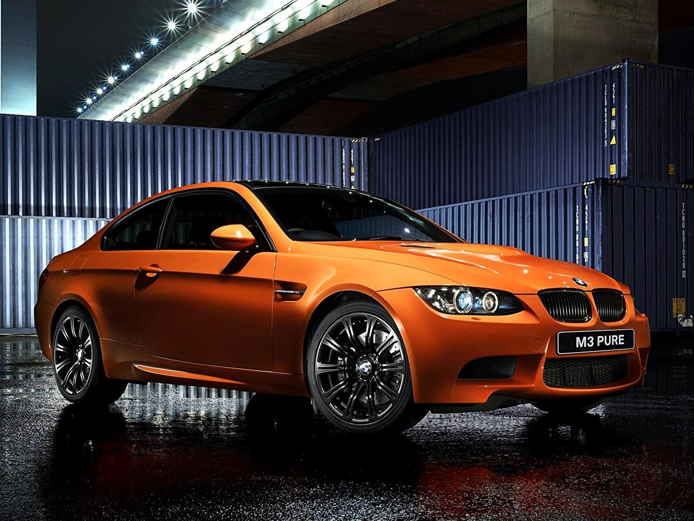 Photo BMW M3 E92 Orange Cars auto automobile