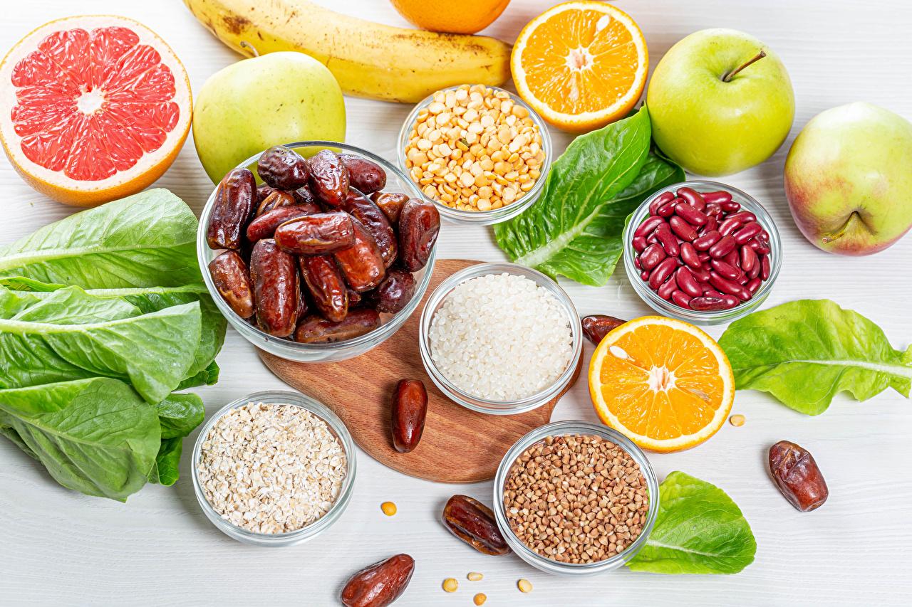 Picture dates Rice Kasha Grapefruit Orange fruit Grain Apples Food Fruit Cutting board Buckwheat
