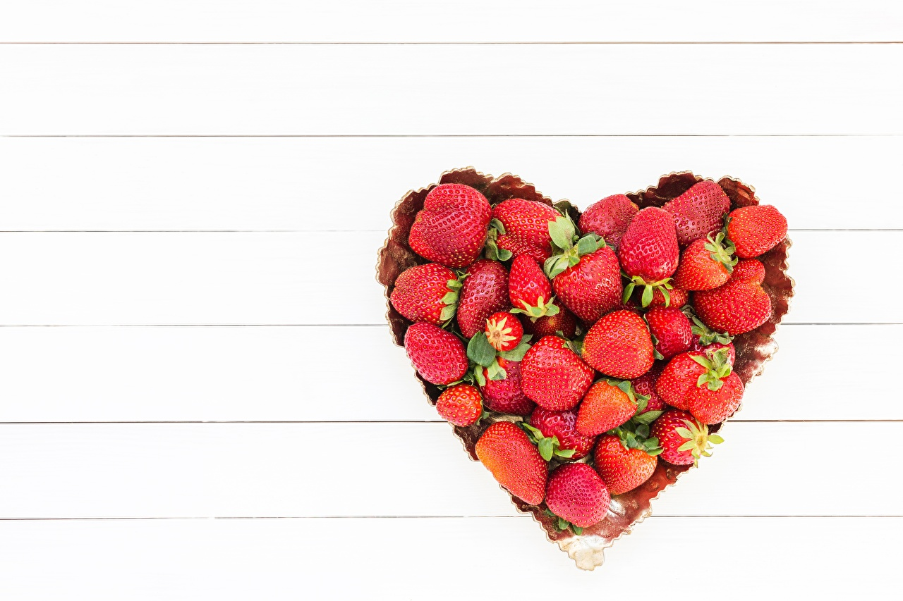 Image Heart Strawberry Food Template greeting card