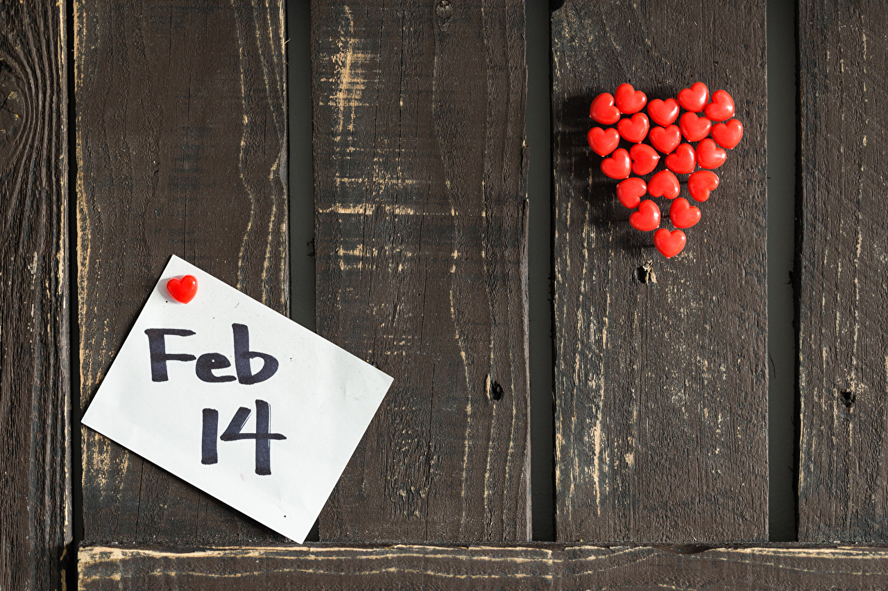 Image Valentine's Day English Heart Wall Wood planks walls Boards