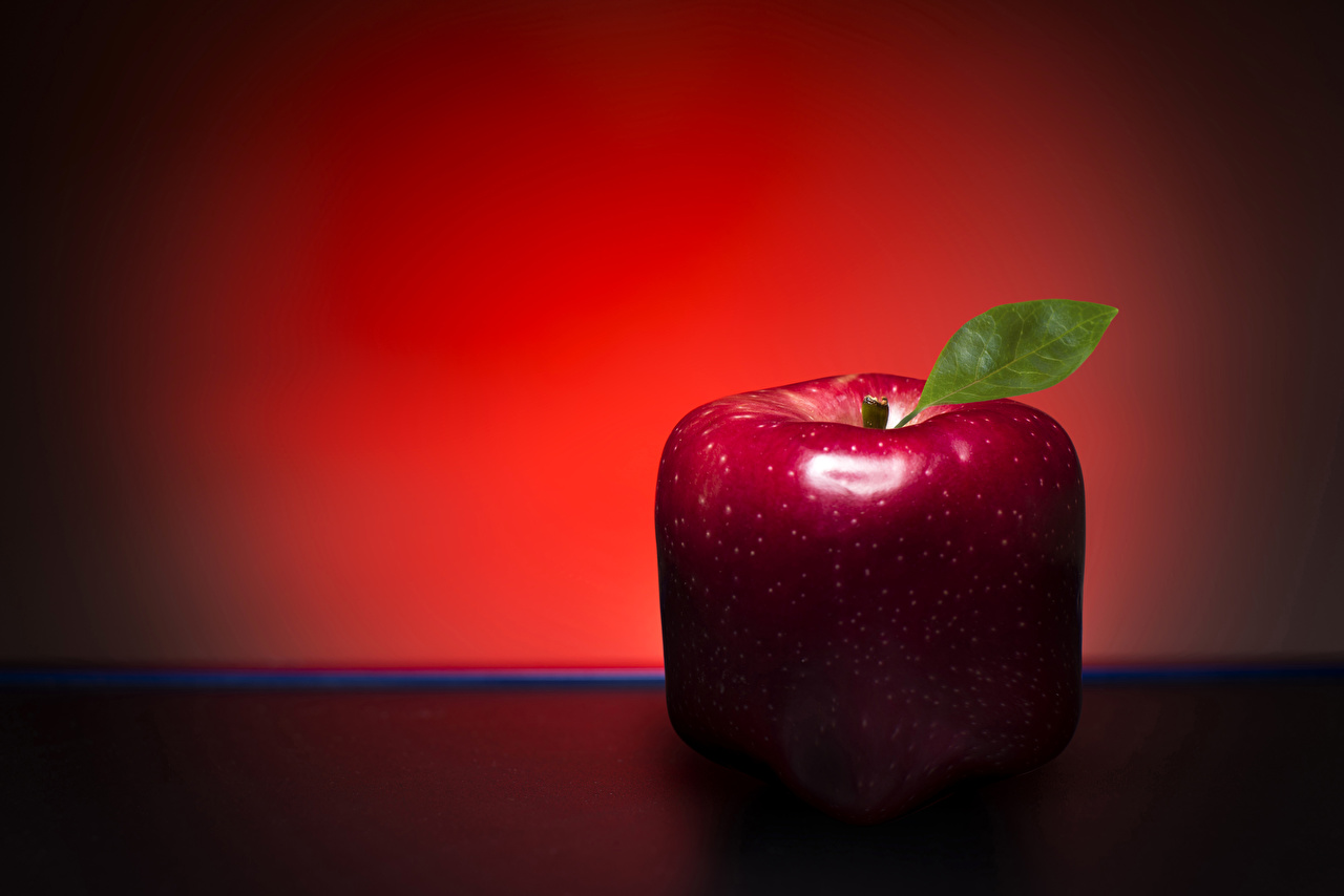 Bakgrundsbilder Röd Äpplen originella Mat Närbild kreativ Kreativa