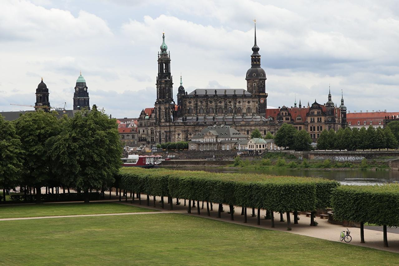 Dresde Allemagne Saxony, Dresden Castle-Residence Arbrisseau Design Gazon Palais Villes