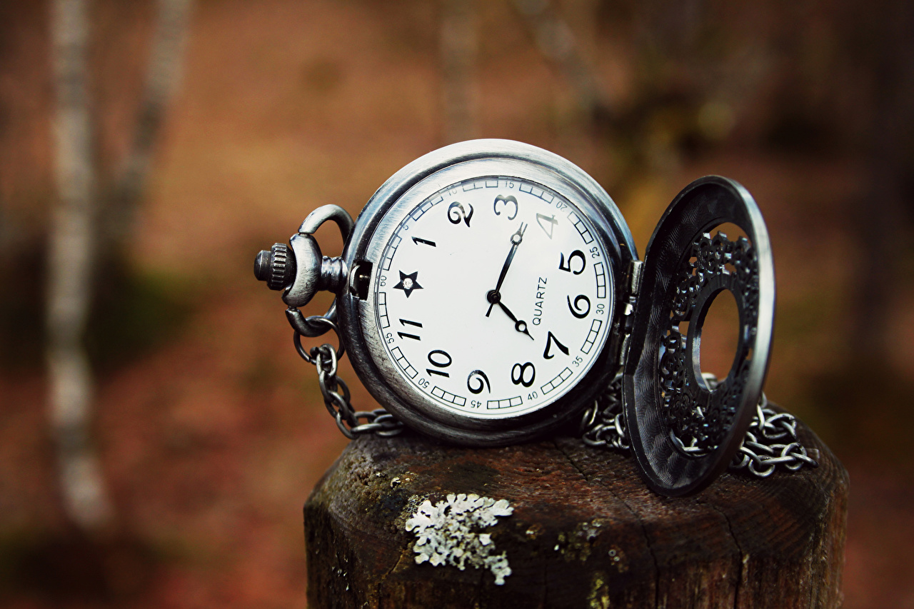 Photo Pocket watch Clock Closeup