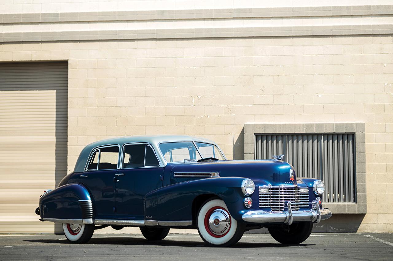 Photo Cadillac 1941 Fleetwood Sixty Special Sedan Blue Retro Cars vintage antique auto automobile