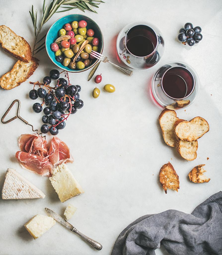 Bilder Oliven Kaffee Brot Käse Schinken Weintraube Tasse Lebensmittel