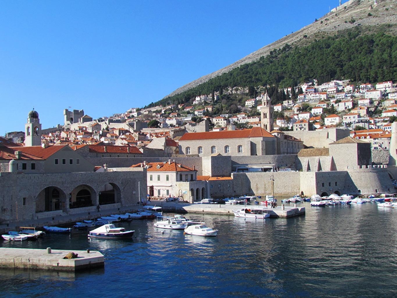 Image Cities Croatia Coast Building Dubrovnik Houses