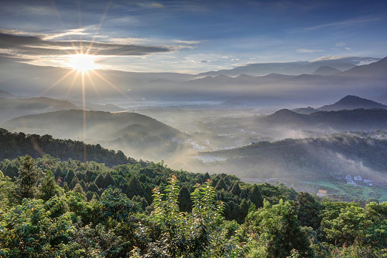 、風景写真、空、光線、太陽、自然、