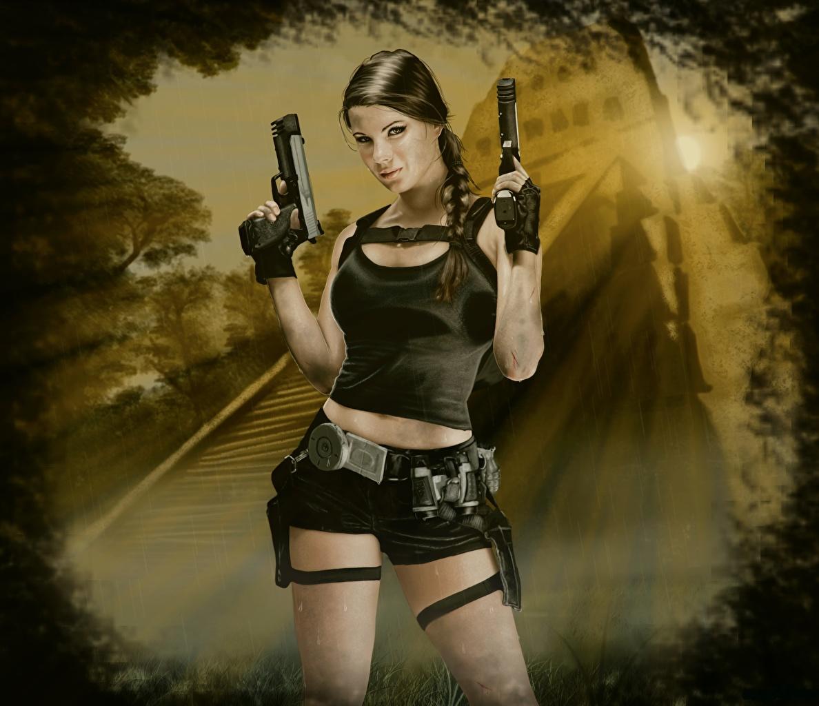 Art Lara Croft Shadow Of The Tomb Raider Desktop Wallpapers: Images Tomb Raider Underworld Pistol Lara Croft Girls Vdeo