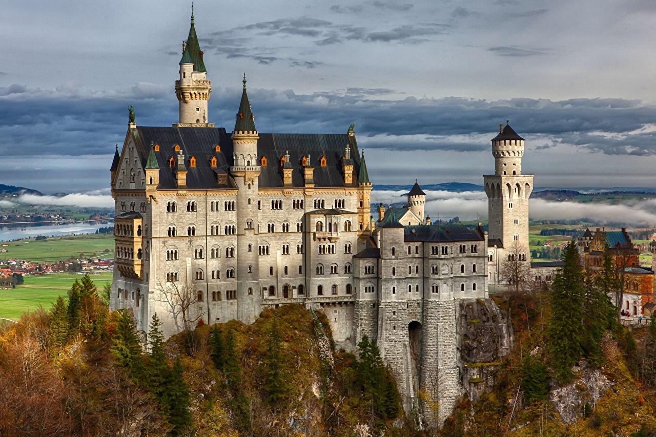 Allemagne Château fort Neuschwanstein Bavière Villes