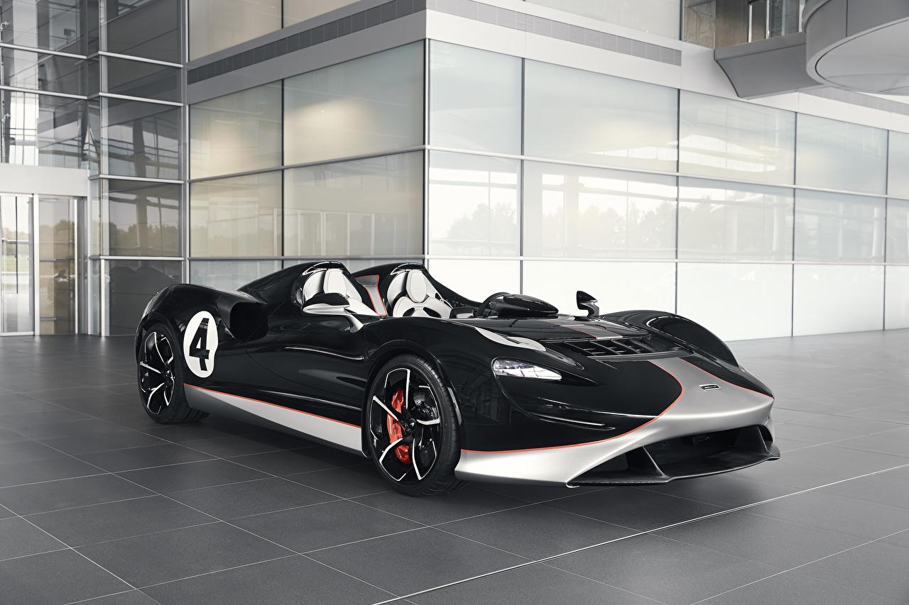 Wallpaper McLaren 2020 MSO Elva M1A Theme Roadster Black Cars Metallic auto automobile
