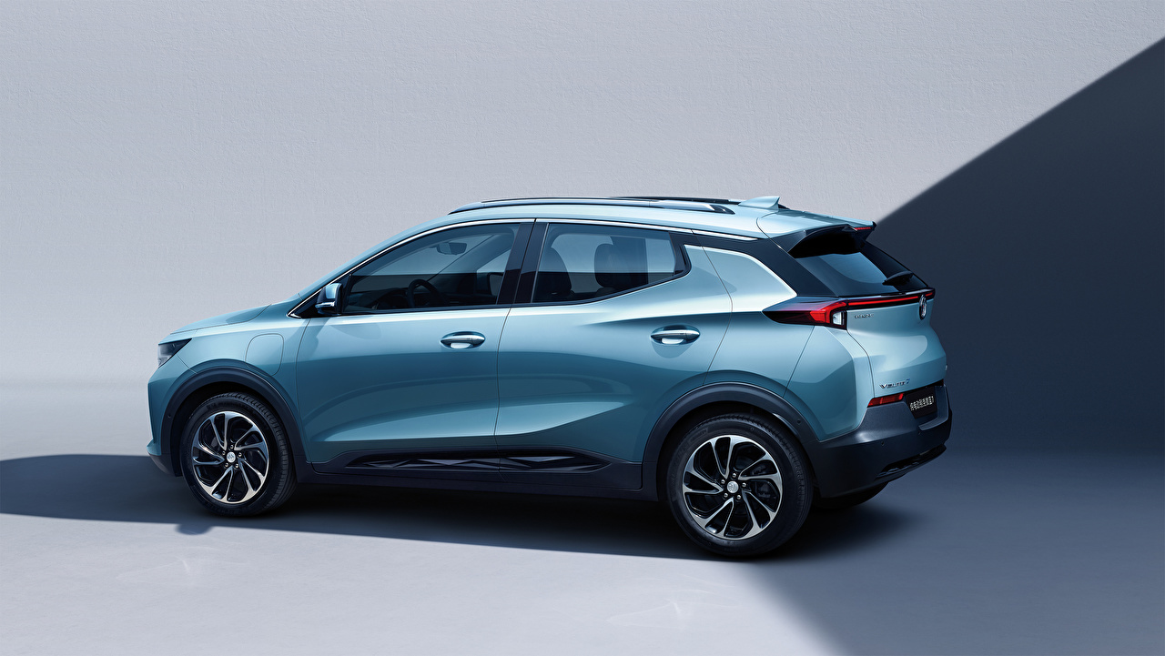 Image Buick Crossover Velite 7 2020 Light Blue Side Metallic automobile CUV auto Cars