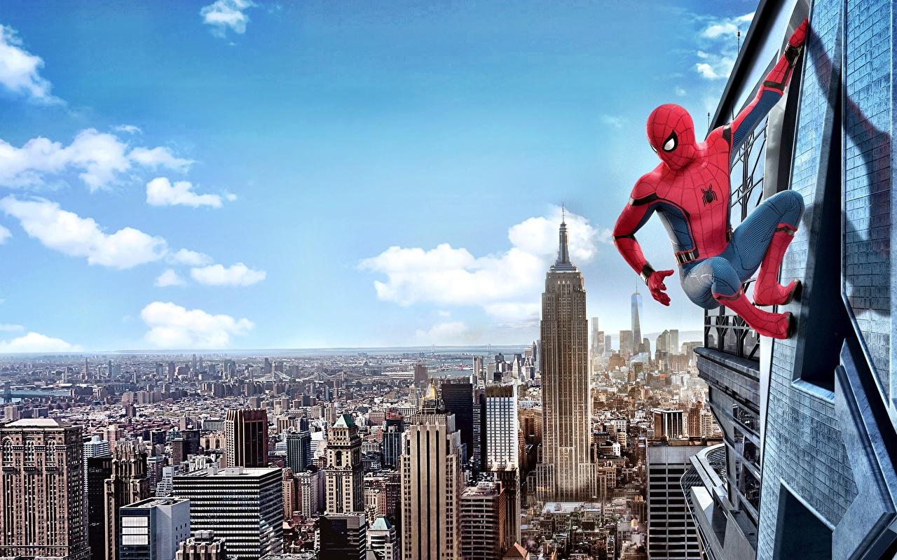 Desktop Wallpapers Spider-Man: Homecoming New York City superheroes Spiderman hero Movies Heroes comics film