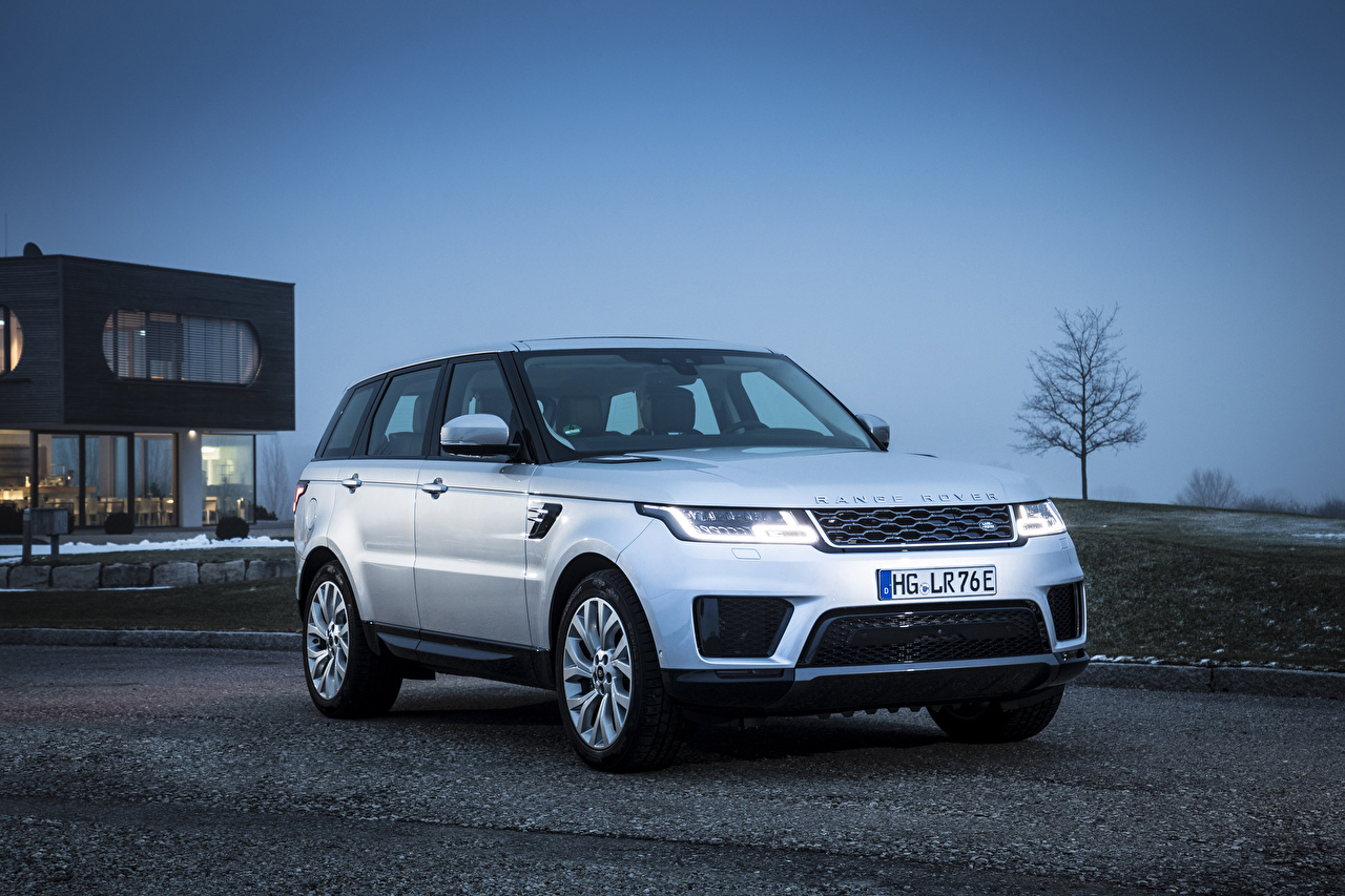 Desktop Wallpapers Land Rover CUV 2017-20 Range Rover Sport P400e HSE Worldwide Silver color automobile Crossover Cars auto